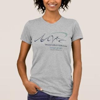 成功への波-女性基本的なTシャツ Tシャツ