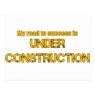 成功への道は建設中です ポストカード