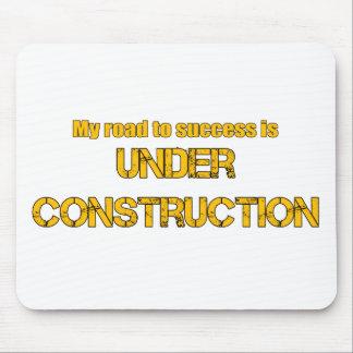 成功への道は建設中です マウスパッド