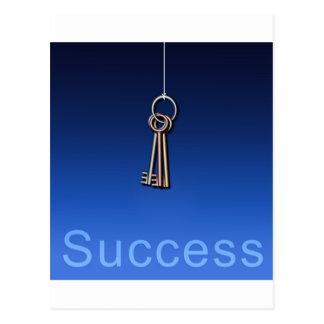 成功への鍵 ポストカード