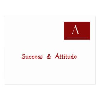 成功及び態度 ポストカード