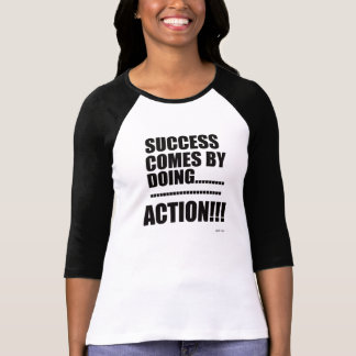 成功3/4の袖のRaglanのTシャツ(女性) Tシャツ
