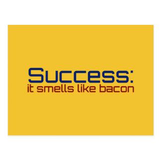 成功: それはベーコンのように臭いがします ポストカード