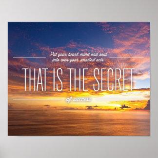 成功-やる気を起こさせるな引用文の秘密 ポスター