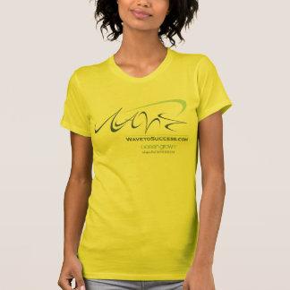 成功-女性オウムのリバーシブルの薄い上への波 Tシャツ
