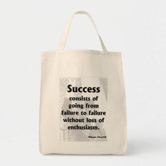 成功- Churchill トートバッグ