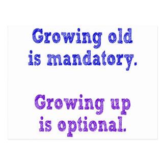 成長する古い必須です ポストカード