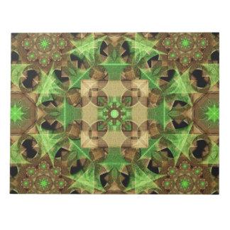 成長の八角形の曼荼羅 ノートパッド