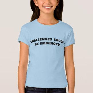 成長の考え方のTシャツ: 挑戦I Tシャツ
