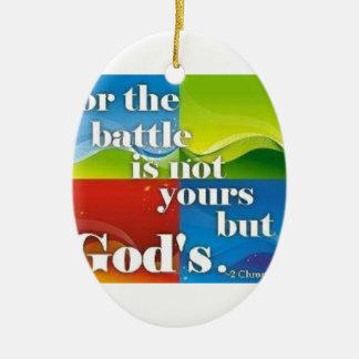 戦いのためにないあなたのしかし神はあります セラミックオーナメント