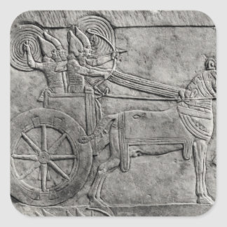 戦いのアッシリアの軍隊を描写するレリーフ、浮き彫り スクエアシール