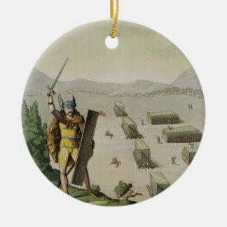 戦いの古代ケルト人かGauls、c.1800-18 (colou セラミックオーナメント