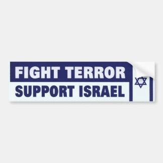 戦いの恐怖サポートイスラエル共和国 バンパーステッカー