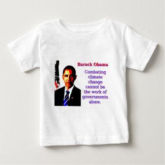 戦いの気候変動-バラック・オバマ ベビーTシャツ