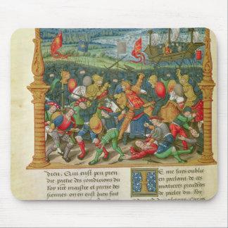戦いの王エドワード三世の行う戦争の マウスパッド