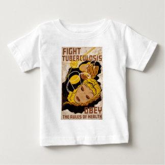 戦いの結核は健康の規則に従います ベビーTシャツ