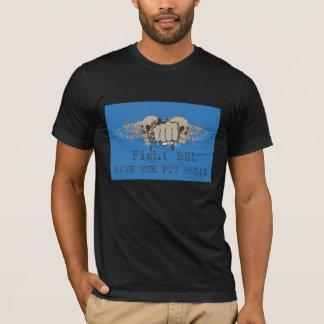 戦いのbsl -ピット・ブルを救って下さい tシャツ