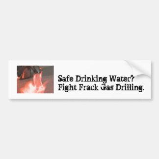 戦いのFrackのガスのバンパーステッカー-飲料水 バンパーステッカー