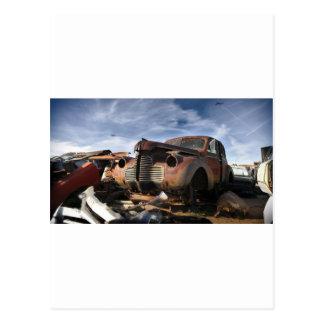 戦い上のF86サーベルとの古物置場の芸術 ポストカード