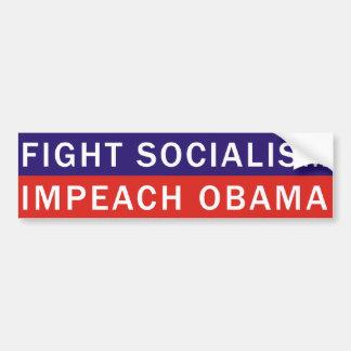 戦い社会主義はオバマを弾劾します バンパーステッカー