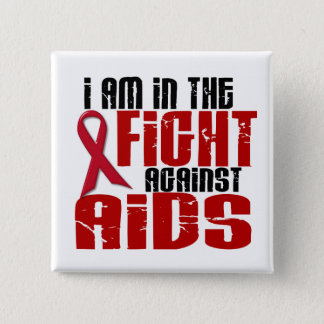 戦い1のエイズHIV 5.1CM 正方形バッジ