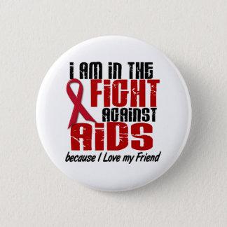 戦い1の友人のエイズHIV 5.7CM 丸型バッジ
