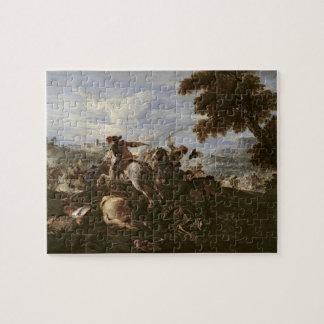 戦い(キャンバスの油)の騎士 ジグソーパズル