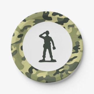 戦わない兵隊の軍隊の紙のデザートプレート ペーパープレート