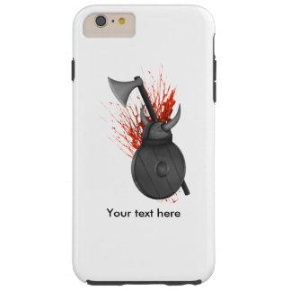 戦争および血の(ばちゃばちゃ)跳ねるのバイキングの武器 TOUGH iPhone 6 PLUS ケース