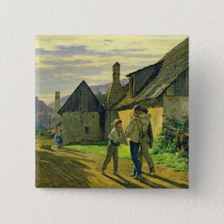 戦争から家に来ます、1859年 5.1CM 正方形バッジ