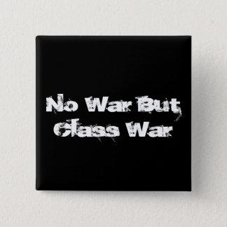 """""""戦争しかし階級闘争""""ボタン無し 5.1CM 正方形バッジ"""