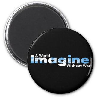 戦争なしで世界を想像して下さい マグネット