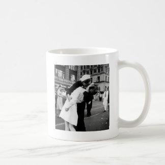 戦争のさようなら正方形に時々接吻すること コーヒーマグカップ