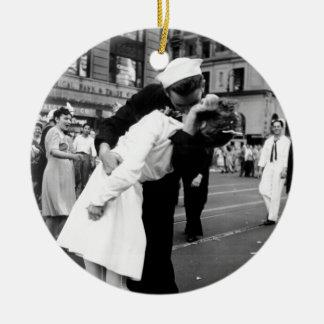 戦争のさようなら正方形に時々接吻すること セラミックオーナメント
