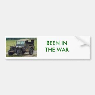 戦争のジープ、あります バンパーステッカー