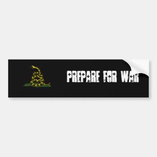 戦争のバンパーステッカーのために準備して下さい バンパーステッカー