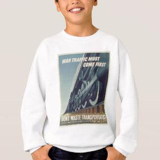 戦争の交通は最初WW-2スエットシャツを来なければなりません スウェットシャツ