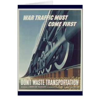 戦争の交通は最初WW-2メッセージカードを来なければなりません カード