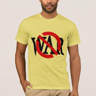 戦争のTシャツを通した赤いスラッシュ Tシャツ