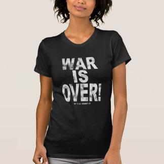 戦争はにあります(擦り切れたな一見) Tシャツ