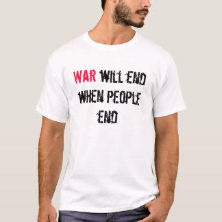 戦争は終わります Tシャツ