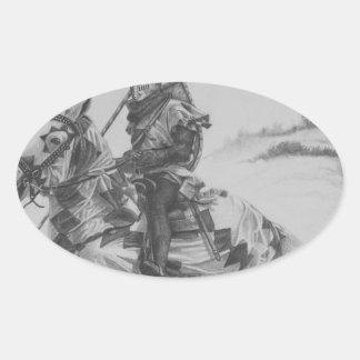 戦争への道 楕円形シール