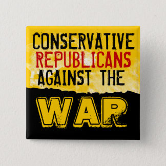 戦争ボタンに対する保守的なGOP 缶バッジ