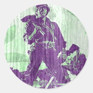 戦争ポスター1 ラウンドシール