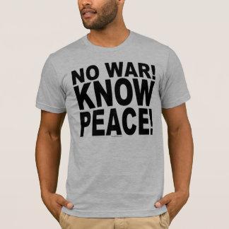 戦争無し! 平和を知って下さい! Tシャツ