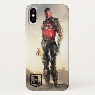 戦場のジャスティス・リーグ|のサイボーグ iPhone X ケース