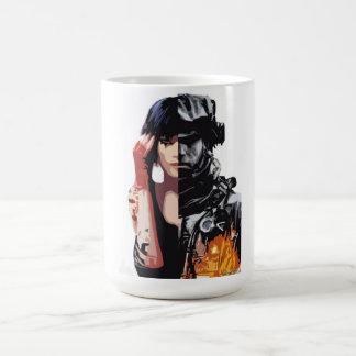 戦場+鏡の端のマグ コーヒーマグカップ