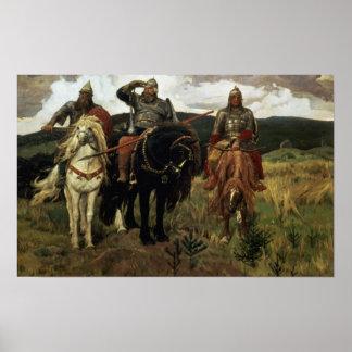 戦士の騎士1881-98年 ポスター