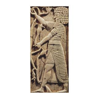 戦士を描写するレリーフ、浮き彫り キャンバスプリント
