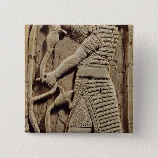 戦士を描写するレリーフ、浮き彫り 5.1CM 正方形バッジ